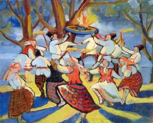 Białoruski obraz z 1921 r. przedstawiający Noc Kupały