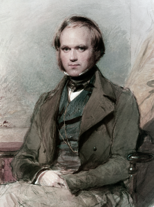 Portret Karola Darwina autorstwa George'a Richmonda z 1840 r.
