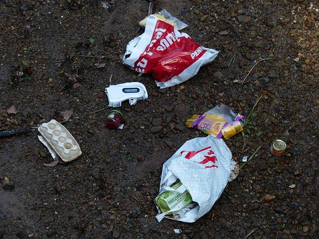 Często śmieci zamiast do przetworzenia trafiają do środowiska naturalnego. Aut. Hans. Źródło Pixabay. CC0