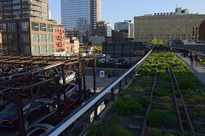 Fot. Wikimedia. Widok na Park High Line w Nowym Jorku