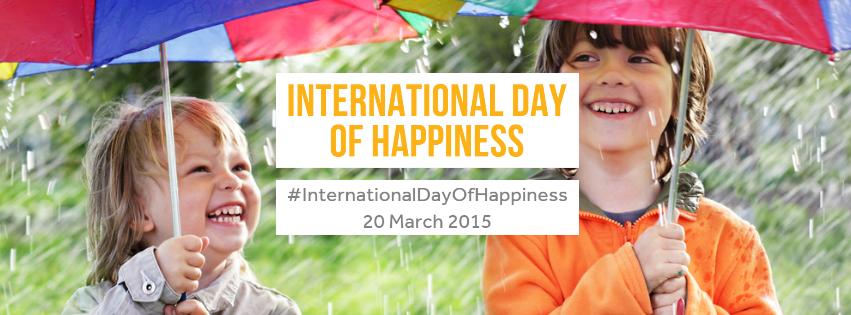 Oficjalny plakat Międzynarodowego Dnia Szczęścia 2015. Źródło Day of Happiness