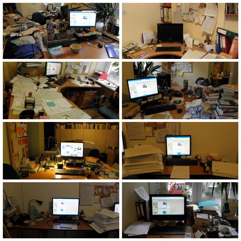 sprzątanie biurka